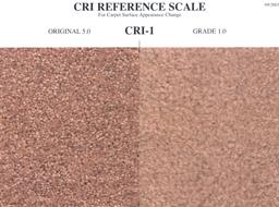carpet texture retention warranty cri reference scale